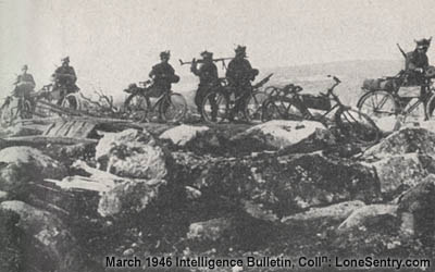 German Bicycle reconnaissance troops in arctic