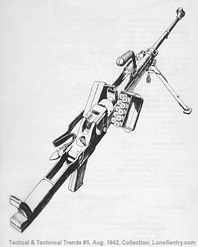 German 7.92-mm. antitank rifle