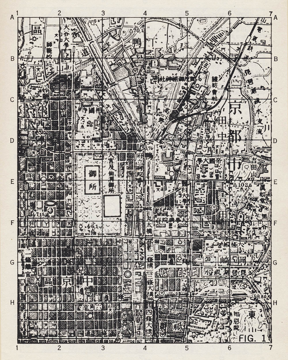 [Figure 1: City Map (Kyoto)]