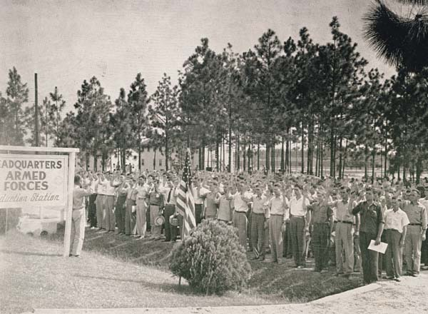 Camp Shelby Induction Station