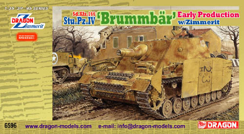 Dragon Model Kit: Sd.Kfz. 166 Stu. Pz. IV Brummbär Early Production w/ Zimmerit