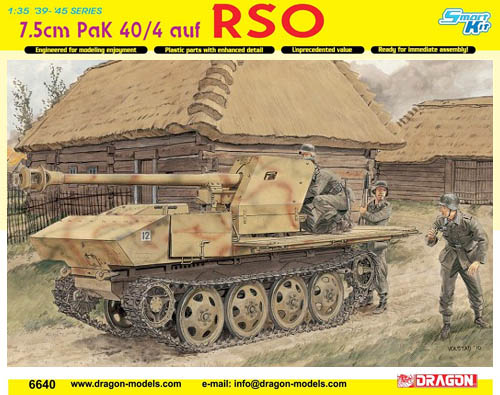 Dragon Model Kit: 7.5cm PaK 40/4 auf RSO