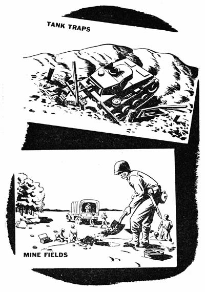 Passive Antitank Measures: Tank traps and mine fields