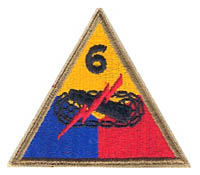 6th Armored Division Patch