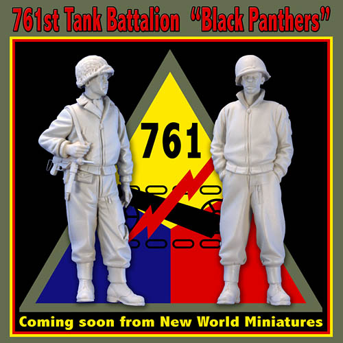 761st Tank Battalion - Black Panthers - WW2 Scale Model Figures