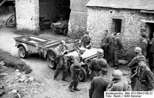 Jeep Captured by Germans in WW2