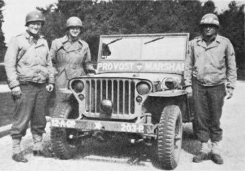 Jeep of 12th Army Group Provost Marshal Section