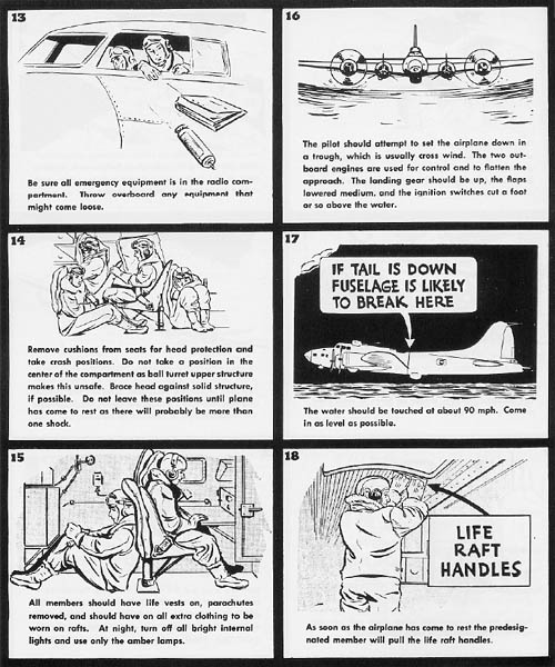 Pilot Manual B-17 Flying Fortress Bomber: Forced Landing Water