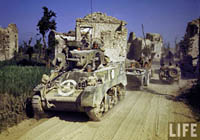 WW2 Color Photograph M5 Light Tank