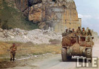 WW2 Color Photograph: M7 Priest Self-Propelled Artillery