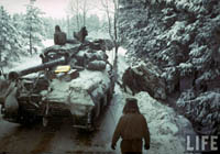U.S. Tank Destroyers during Battle of the Bulge in Ardennes