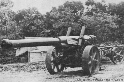 WW2 Japanese 150 mm Gun Type 89