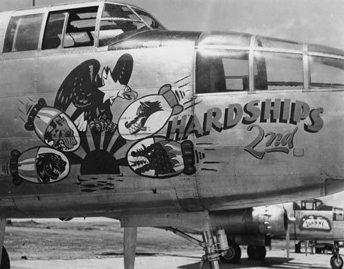 B-25 Mitchell -- Hardships 2nd -- WW2 Nose Art