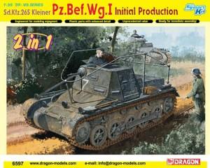 Dragon-6597 -- Sdkfz 265 Kleiner Pz Bef Wg I (Panzer I Command Tank)
