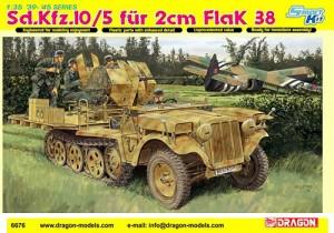 Dragon 1/35th Scale Kit No. 6676 -- Sdkfz 10/5 2cm Flak 38 Halftrack