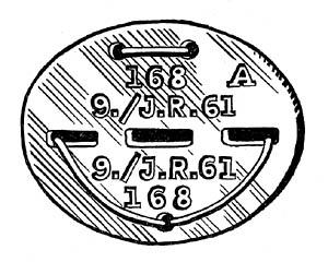 WWII Wehrmacht Erkennungsmarke - German Dog Tag Disc