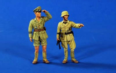 German DAK Officer Figures -- Verlinden Scale Models