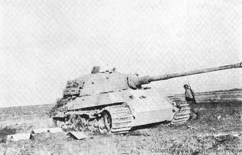 Knocked-out King Tiger (Panzer VI, Tiger II Destroyed, 1944)