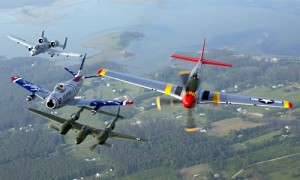 P-51 Mustang Color Photograph of WW2 Fighters