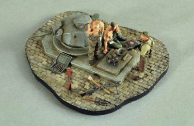 Verlinden Kit No. 2617 -- Pillbox Bunker Normandy Vignette
