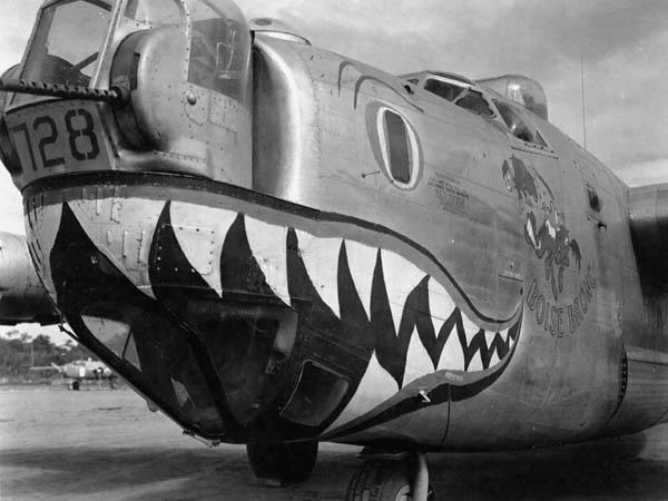 Nose Art of B-24J Boise Bronc of 320th BS 90th BG in Philippines