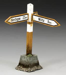 Bastogne and Wiltz Signpost