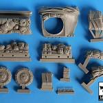 Black Dog M2 Kit Parts Resin 1/35th