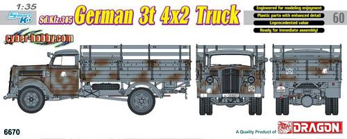Cyberhobby Sdkfz 305 German 3-ton 4x2 Truck