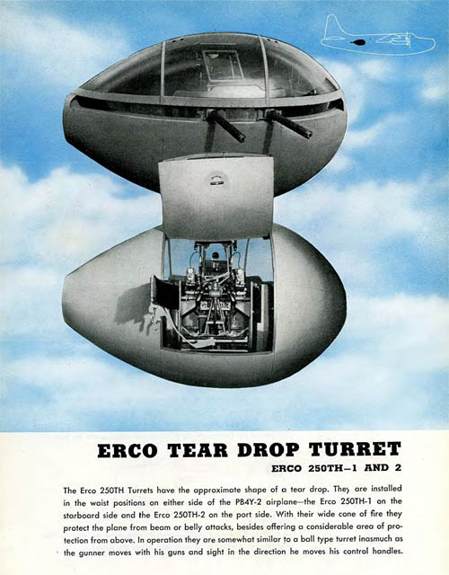 Erco Tear Drop Gun Turret - Erco 250th - U.S. Navy Consolidated PB4Y-2 Privateer