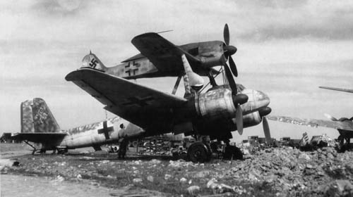 Luftwaffe Mistel Ju-88 and Fw-190