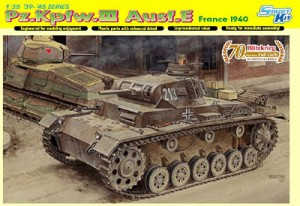 Pz Kpfw III Ausf E, France 1940 Blitzkrieg, Dragon Smart Kit