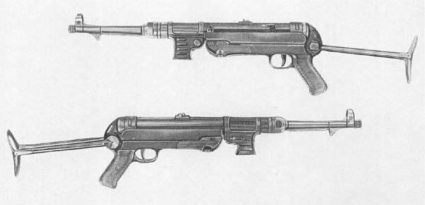 WW2 German Schmeisser MP SMG Submachine Gun