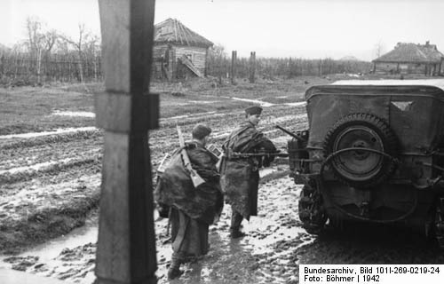 Sd. Kfz. 10 German Light Halftrack in Russian Mud