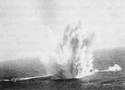 U-Boat U-524, B-24 Depth Charge Attack