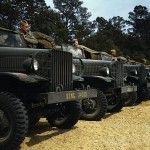 U.S. Marine Corps Trucks Color Photographs of WWII