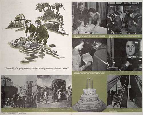 WAC 3rd Anniversary Poster, 1945, WW2