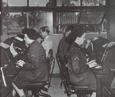 WAC Teletype Operators - WW2 Womens Army Corps