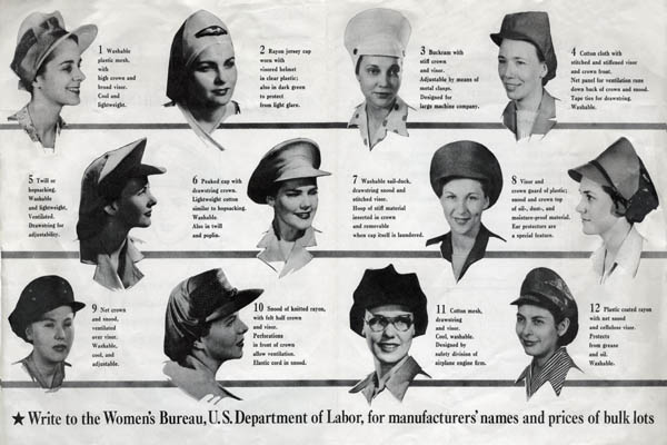 Womens Safety Caps: WW2 War Production Home Front