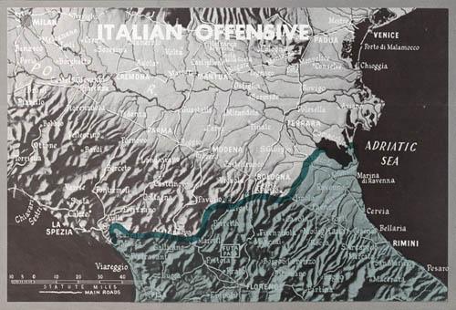 WW2 Italian Offensive Map