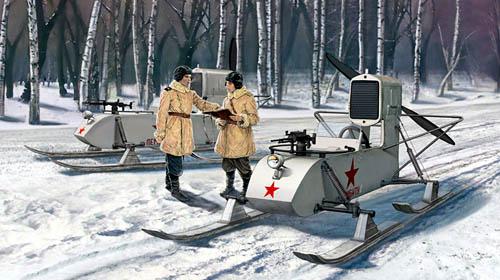 Aerosled -- WW2 Russian Gaz-98 Aerosled
