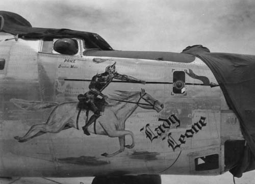 B-24J Lady Leone of 864th BS 494th BG