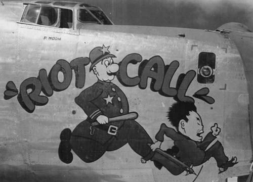 Consolidated B-24 Liberator WW2 Nose Art -- Riot Call
