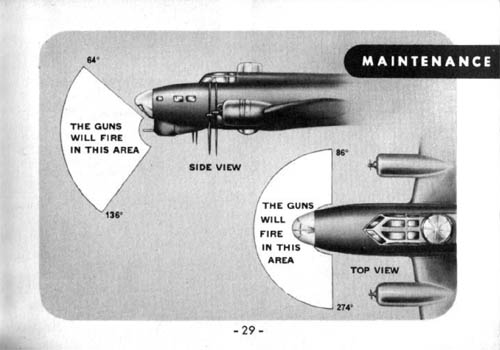 B-17 Chin Turret Area of Fire