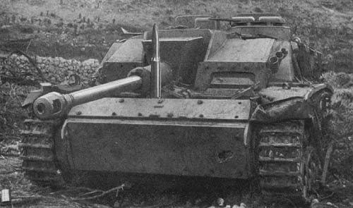 Cassino, Italy - German StuG III Self-Propelled 75-mm Gun