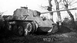 Destroyed Panther Tank Normandy 1944
