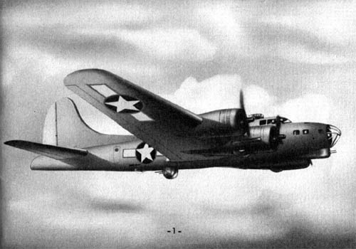 Drawing of B-17 Flying Fortress