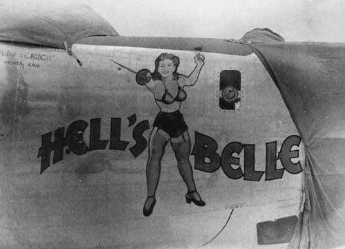 Hells Belle B-24 Nose Art