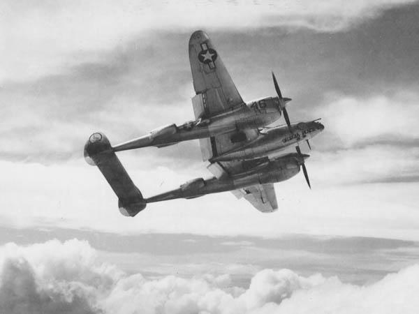 Lockheed P-38 Lightning Georgia Peach II over Panama