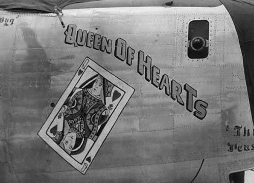 WW2 Queen of Hearts Nose Art, 866th Bomb Sq, 494th BG