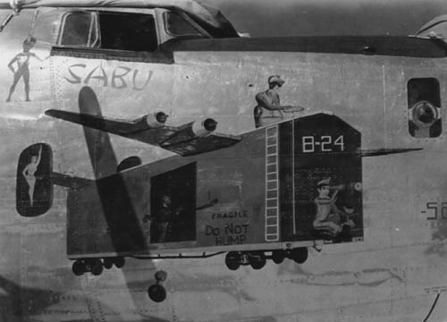 Sabu B-24 Bomber Nose Art